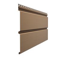 Виниловый сайдинг Docke Premium (Деке Премиум) Профилированный Брус D6S Капучино