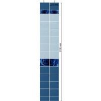 Стеновая панель ПВХ Кронапласт Unique Капли росы Синий 2700х250 мм 3D Дизайн