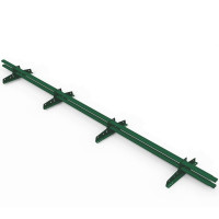 Снегозадержатель трубчатый овальный RAL 6005 Зеленый мох 3 м